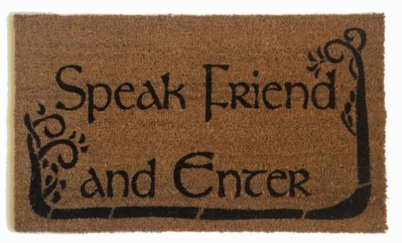 speak-friend-and-enter-doormat