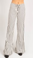 Black and White Striped Pants - Vandevort