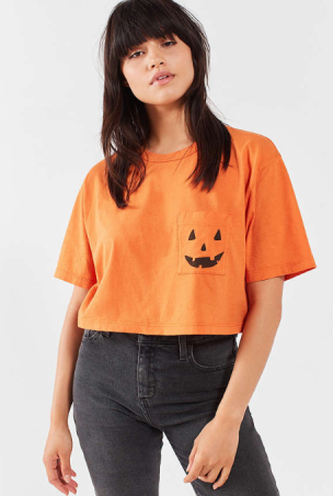 Jack O'Lantern Crop Top - Urban Outfitters