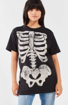 Oversized Skeleton T-Shirt - Urban Outfitters