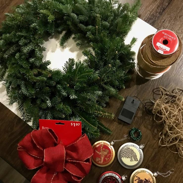 Christmas Wreath Materials