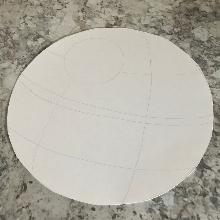 death star pie template