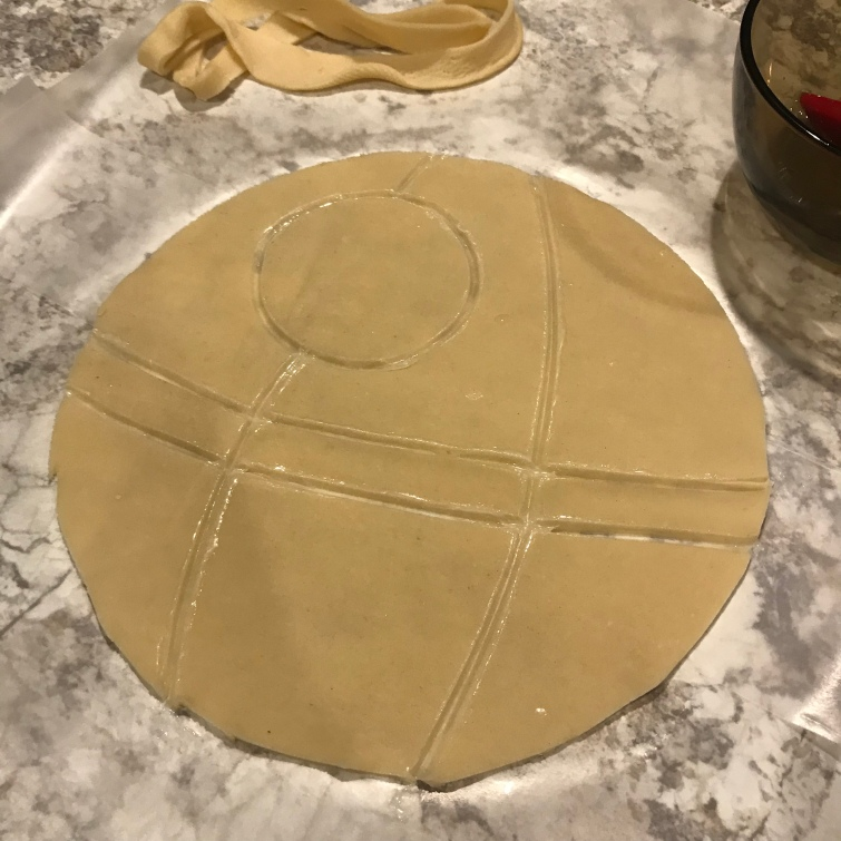 death star pie tutorial 3