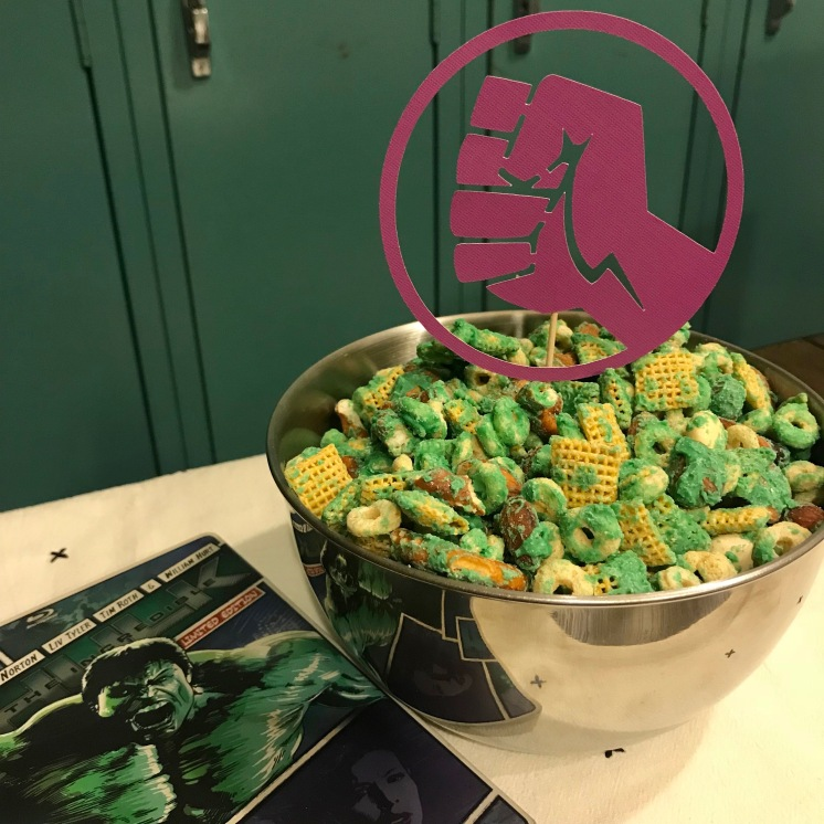 Hulk Smash Snack Mix