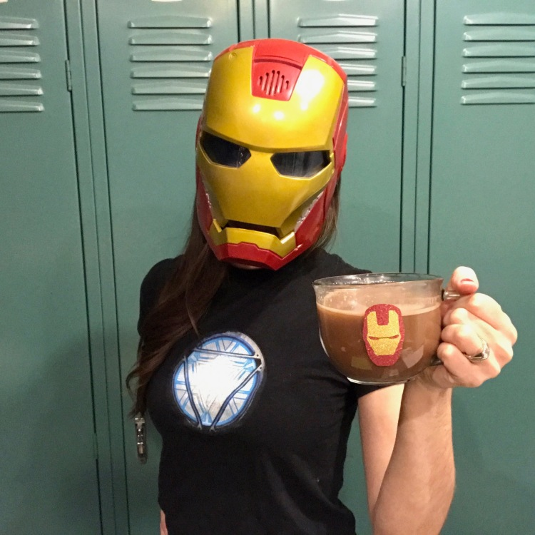 Iron Man Glitter Mug DIY