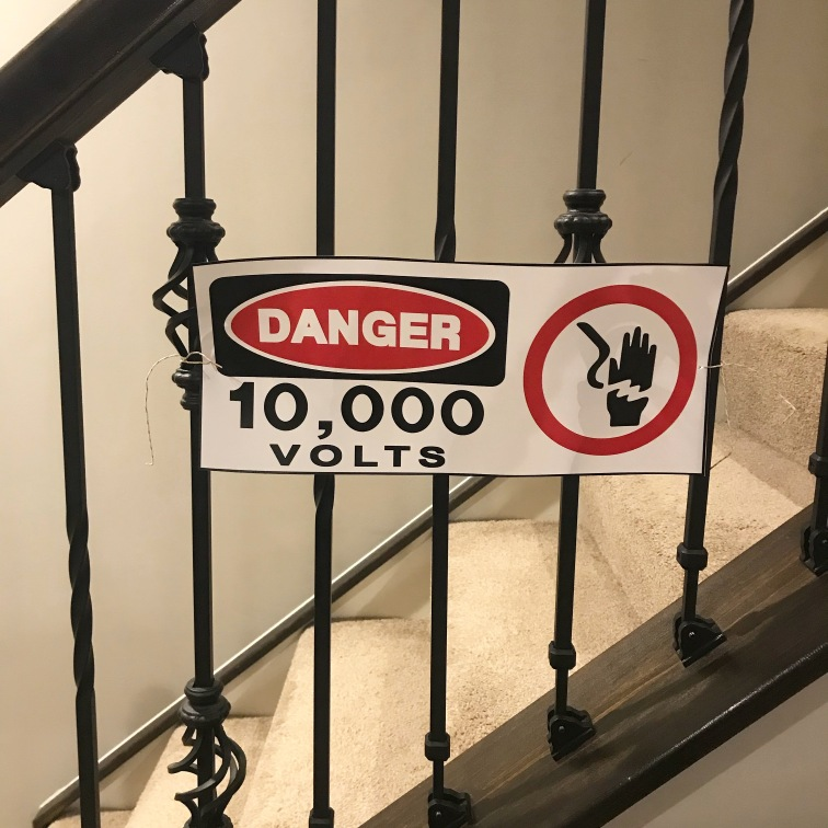 Jurassic Park Fence High Voltage Sign